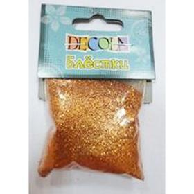 Блёстки декоративные Декола , античное золото, 0.3мм