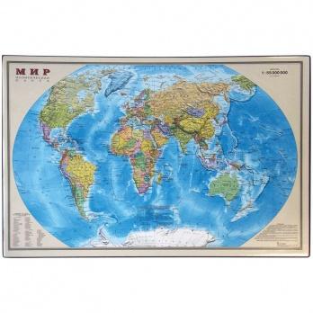 """Подкладка д/письма """"Карта мира"""" 38*59см ПО/К_3166"""