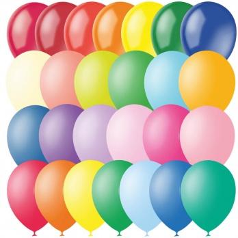 Воздушный шар  М12/30см, пастель+декор, ассорти 4607028763304