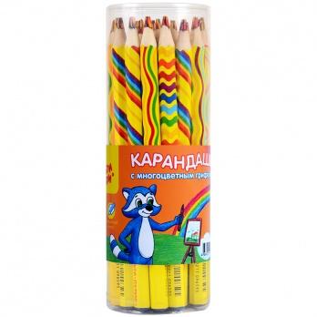 "Карандаш с многоцветным грифелем ""Енот и радуга""   СР_11659"