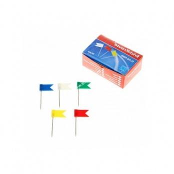 Кнопки-флажки цветные 50шт/уп.  ЕК 28232