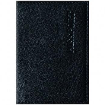 """Обложка д/паспорта """"Office Space. Бизнес"""" кожзам, черный 254217"""
