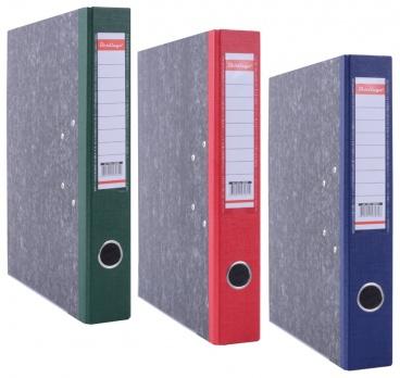 Регистратор А4 50мм мрамор. синий, с карманом, нижний метал. кант. ATm_50502