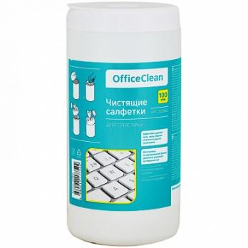 Салфетки д/ухода за пластик.поверхностями OfficeClean 260885