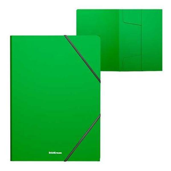 Папка на резинках зеленая Classic ЕК 47191