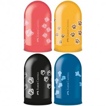 """Точилка пластиковая Faber-Castell """"Jelly"""", 1 отверстие, контейнер, ассорти FC283213"""