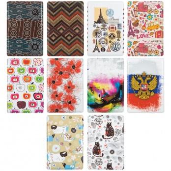 Обложка-карман для карт и пропусков  65*95мм, фотопечать, ПВХ  ассорти 255451