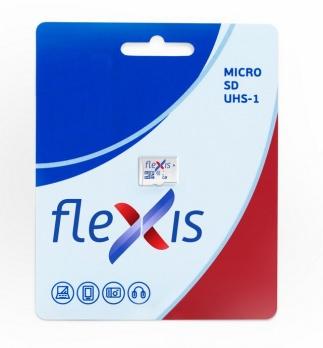 Карта памяти MicroSDHC 16Gb FLEXIS, Class10 UHS-I U1, Без адаптера, RTL