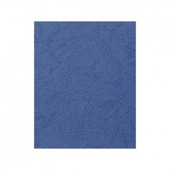 Подложка картон/кожа (А4) синий 100шт.