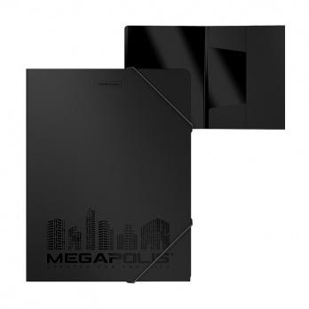 """Папка на резинках черная """"Megapolis""""  ЕК 46014"""