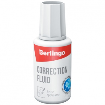 "Корректир. жидкость 20мл c кисточкой ""Berlingo"" KR530"