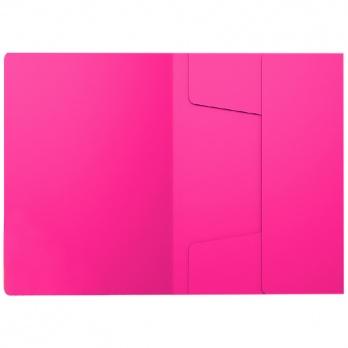 Папка на резинках Neon розовая  ЕК 47175