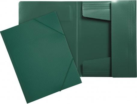 "Папка на резинках темно-зеленая ""Diamond""  ЕК 14803"