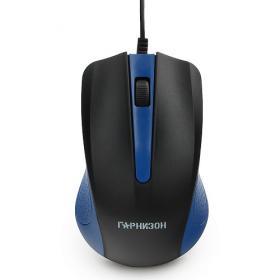 Мышь проводная ГарнизонGM-105B,USB,чип-Х,синий,800DPI,2кн.+колесо-кнопка