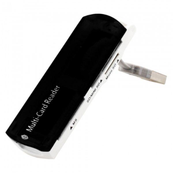 Картридер Perfeo Card Reader SD/MMC+Micro SD+MS+M2, (PF-VI-R013 Black) чёрный (шт.)