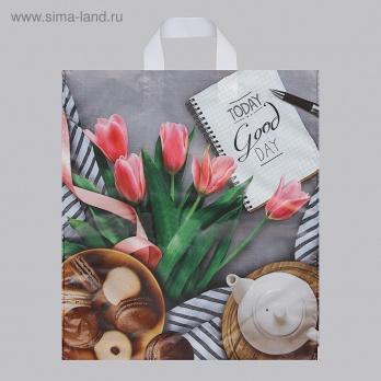 """Пакет с петлев.ручкой  38*42см """"Завтрак"""" ПТЛ47682"""