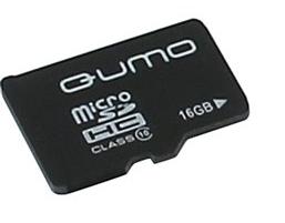 Карта памяти MicroSDHC 16Gb QUMO  Class10 без адаптера RTL