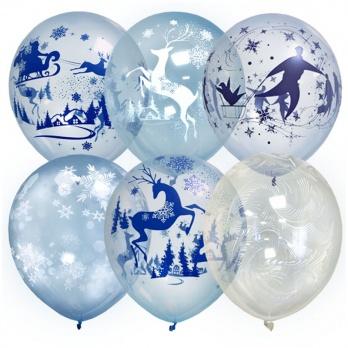 "Воздушный шар ""Кристалл Bubble. Зимняя сказка"" 6073565"