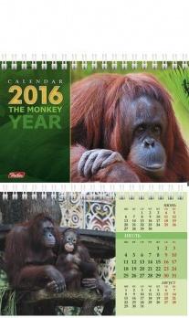 """Календарь-домик """"Год обезьяны""""  на гребне, 2016"""