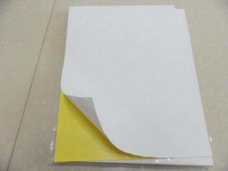 Бумага самоклеящаяся А4 белая