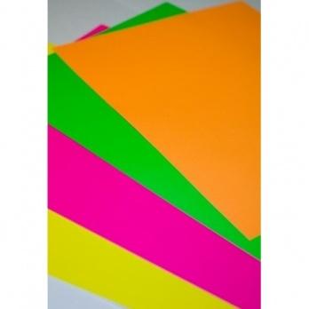 Бумага самоклеящаяся А4 оранжевая флю