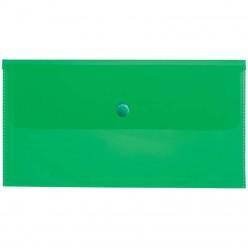 Папка-конверт с кнопкой А6 зеленая 180мк АКк_06304