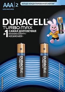 Элемент питания Duracell R3 BL2 Turbo