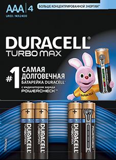 Элемент питания Duracell R3 BL4 Turbo