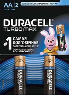 Элемент питания Duracell R6 BL2 Turbo