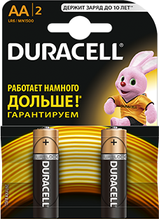 Элемент питания Duracell R6 BL2