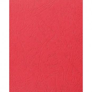 Подложка картон/кожа (А4) красный 100шт.