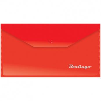 Папка-конверт с кнопкой С6 красная 180мк АКк_06303